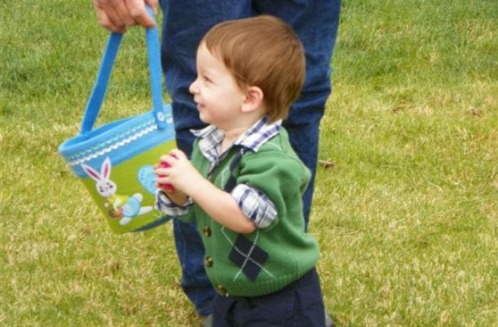 Young Man Hunting Easter Eggs