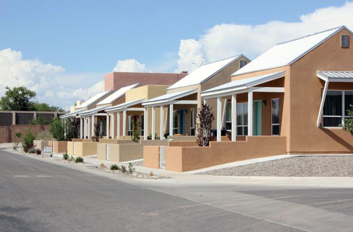 Side street view of Sawmill homes