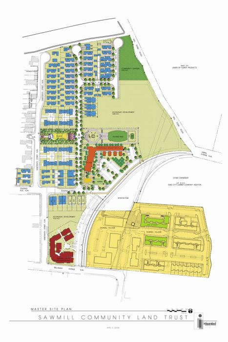 Sawmill Community Land Trust Master Plan 2008 ADV plus Pondersa Site
